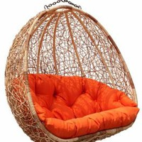 Amazon.com: Estella - Dual Sitting Outdoor Wicker Swing Chair/Porch Hanging Chair - DL024TW: Home &amp; Kitchen