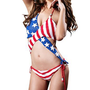 Amazon.com: LOCOMO Sexy US United States American Flag Knit Crochet Bathing Suit Swim Wear Bikini Monokini Exotic FFS008 One Size Blue Red White: Clothing