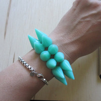 Mint Green Double Spike Bracelet
