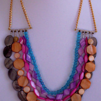 Statement Necklace MultiLayer Colorful Beads