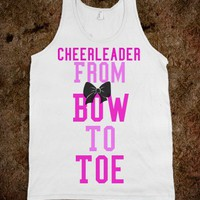 Cheerleader From Bow to Toe