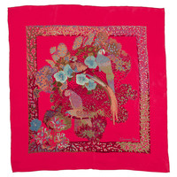 One Kings Lane - Objects of Desire - Dior Fuchsia Floral Scarf