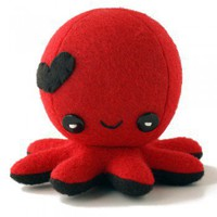 ShanaLogic.com - Octo-Plushie In Love! - Red  Black - Collectible Plushes