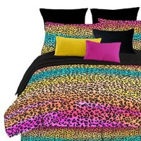 Amazon.com: Street Revival Rainbow Leopard Full Comforter Set, Multi: Home &amp; Kitchen
