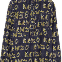 KENZO | Tiger-print cotton and silk-voile shirt | NET-A-PORTER.COM