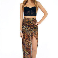 Leopard Maxi Skirt $33