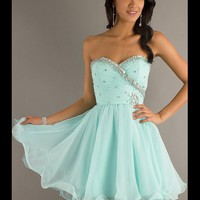 FancyGirl — Sweet Light Sky Blue Sweetheart Mini Prom Dress