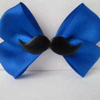 Mustache Bow Hair Clip or Accesory