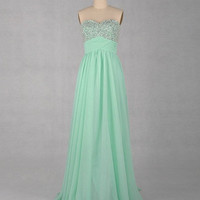 2013 A-line Sweetheart Floor-length Chiffon Prom Dress