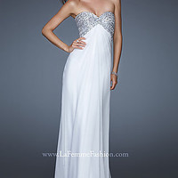 Long Strapless Sweetheart Empire Waist Dress