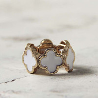 White Clover Ring , Sweet Bohemian Jewelry