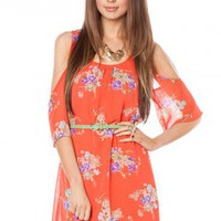 Avonlea Open Shoulder Dress - ShopSosie.com