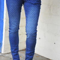 Forget Me Dot Jeans: Navy/White | Hope's