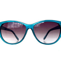 Turquoise Blue Cat Eye Sunglasses Vintage CatEyes Eyeglasses
