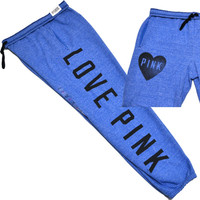Victoria's Secret Pink Sweatpant Campus Pant Fit Pocket Banded Edge Love V057
