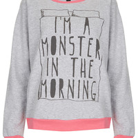 Monster PJ Sweat Top - Topshop USA