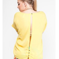 Plus Slit Back Blouse — Tanny's Couture LLC