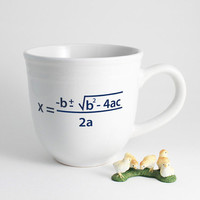 Quadratic Equation Math Coffee Cup in Black by LLTownleyCeramic
