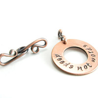 Deeds Not Words Copper Toggle Clasp Handmade Jewelry Supplies