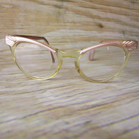 Vintage Pink Cat Eye Glasses FREE SHIPPING