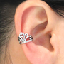 925 Pure Silver Vintage Crown Ear Cuff