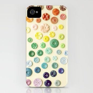 Vintage Button Gradient Fine Art Photograph iPhone Case by Jillian Audrey | Society6