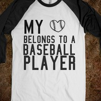 My heart belongs to a baseball player-- NOT sold out.