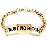 Pink Amore  Trust No B* Bracelet