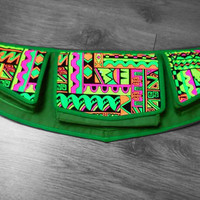 Neon, Psychedelic, Uv reactive Festival Hip Bag / Fanny Pack / Belt Bag w