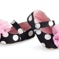 Amazon.com: Mud Pie Baby-girls Newborn Rosette Mary Janes: Clothing