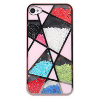 Bestgoods  Fashion Colourful Sliding Polygon Mirror Hard Cover Case For Iphone 4/4s/5