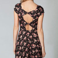 FULL TILT Floral Twist Back Skater Dress 215320149 | Dresses | Tillys.com