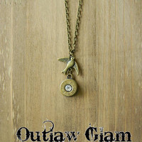 Bullet Necklace, Bullet Jewelry, Antique Bronze Necklace, Outlaw Glam