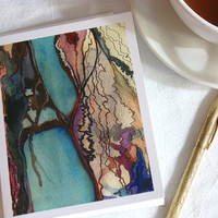 Note card set, River Set, 6 cards and envelopes by tahliaday