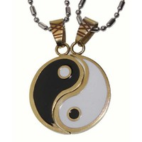 Lovers /Couple Yin and Yang Pendant Set, Stainless Steel: Jewelry: Amazon.com