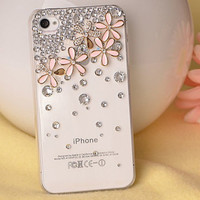 Skin Flowers Crystal Iphone 4/4s/5 Cases