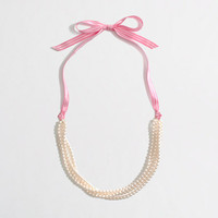 Factory girls' ribbon pearl necklace