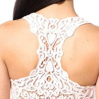 Lace Back Racerback Tank Top - Pink at Lucky 21 Lucky 21