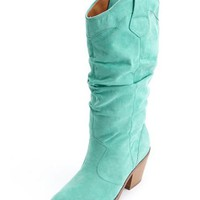 Stacked Heel Cowboy Boot: Charlotte Russe