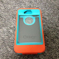 NEW!! Otterbox Defender TEAL ORANGE Case For iPhone 4 4G 4 S 4S !!!
