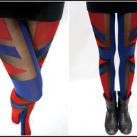 Sandysshop  Flag Pantyhose/ stockings/ tights