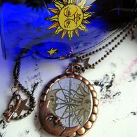 Celestial Copper Necklace by HomespunGossamer on Etsy