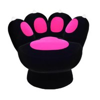 Amazon.com: LumiSource Paw Chair, Black/Pink: Home & Kitchen