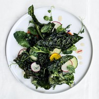 Crispy Kale Salad with Lime Dressing