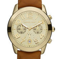 Michael Kors Chronograph Leather Strap Watch | Nordstrom