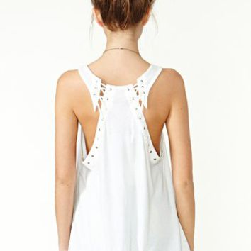 Nasty Gal Lace It Tank - Ivory