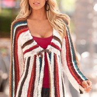 Striped cozy cardigan - Boston Proper