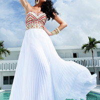 Free shipping:A-line Chiffon Sweetheart Floor Length Graduation Dress-sinospecial.com