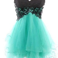 FancyGirl  Fantastic Lace Ball Gown Sweetheart Mini Prom Dress