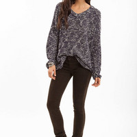 V Neck Marled Sweater $37